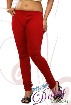 Soft 4-way Lycra Stretchable Legging in Red