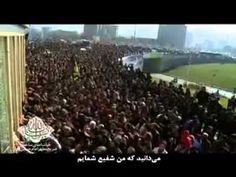 فيديو رائع لحظه خروج ضريح الامام الحسين الجديد من ايران