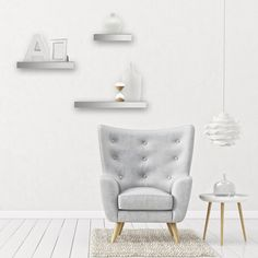 Add a reflective touch to your wall decor with our Mirrored Floating Ledge Wall Shelves. Wall Mounted Shelves, Glass Shelves, Display Shelves, Ledge Shelf, Display Cabinets, Mirrored Floating Shelves, Floating Wall, Shabby Chic Furniture, Living Room Furniture