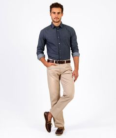 Tapered Fit Cohen Shirt, NAVY