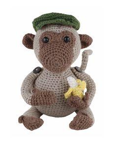 Go Handmade Jimmi the Monkey amigurumi crochet kit pattern #crochet #gift #cute #animal #craft