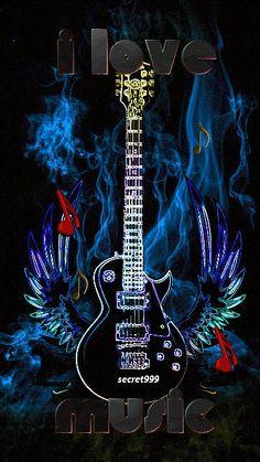 I Love Music Wallpaper. By Artist Unknown. Music Drawings, Music Artwork, Guitar Art, Music Guitar, Music Gif, Piano Music, Musik Wallpaper, Galaxy Wallpaper, Digital Foto