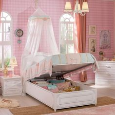 Storage beds are the common ways to add storage into a girls bedroom setting. Our teenage bedroom ideas will ensure you save space and keep her room organized. Best Storage Beds, Bed Storage, Pink Toddler Rooms, Toddler Bed, Ottoman Bed, Ottoman Furniture, Stylish Beds, Childrens Beds, Room Organization