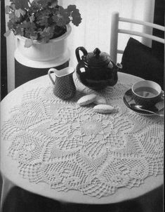 #18_MAGIC Large Table Top Crochet Doily (part 1 of 2)