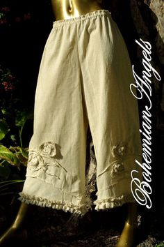 Lagenlook Bloomers Oversized Linen Pants Art to Wear. $110.00, via Etsy.
