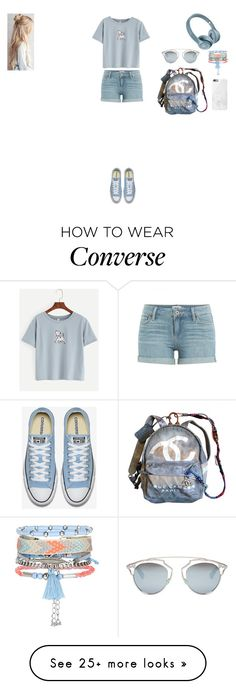 """""""Başlıksız #217"""" by belinda-bailey on Polyvore featuring Paige Denim, Chanel, Native Union, New Look and Christian Dior"""