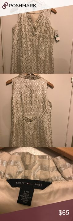 Dress Off white with silver decor, brand new dress with tags Tommy Hilfiger Dresses Midi