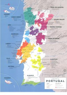 Portugal Wine Map Get the latest wine news and trends all the way from USA, Australia, and New Zealand! Get to know your favorite types of wine with us! Wein Poster, Wine Lovers, Wine Folly, Chateauneuf Du Pape, Spanish Wine, Speak Spanish, Wine Education, Wine Guide, Wine Subscription