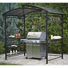 Sunjoy Lincoln Grill Gazebo With LED Light