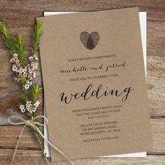 fingerprint wedding invitation | partecipazioni con impronte a forma di cuore http://weddingwonderland.it/2016/02/15-decorazioni-forma-cuore.html