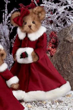☃ ღ Noël Merry Holiday Christmas Teddy Bear, Christmas Baby, Christmas Crafts, My Teddy Bear, Cute Teddy Bears, Boyds Bears, Old Fashioned Christmas, Bear Doll, Merry