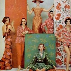 In 1950, wallpaper and fashion were one and the same