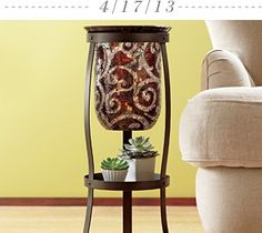 Enter here to win this Giveaway! The Amaretto Swirl Large Hurricane, Rustic Scroll Floor Stand & 3x6 Iced Snowberries GloLite Pillar www.partylite.biz/tenatilk No Purchase Required.