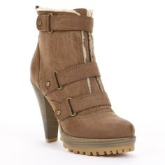 Keystone High-Heel Ankle Boots - Women by HeartSoul - Found on HeartThis.com @HeartThis | See item http://www.heartthis.com/product/337548293889774612?cid=pinterest