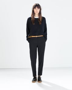Image 1 of CROPPED STRUCTURED TROUSERS from Zara