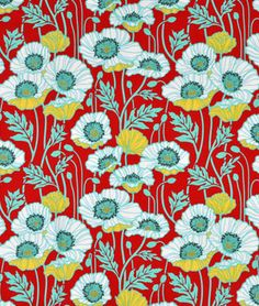 Joel Dewberry Pristine Poppy Poppy Fabric