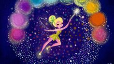 Tinker Bell lights up the night with a magic wand full of color, stardust and pixie dust.