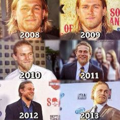 Charlie hunnam. Jax teller. Soa. Like fine wine he gets better with age