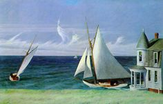 Edward Hopper - The Lee Shore 1941 #hooper #painter
