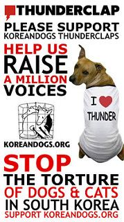 "Thunderclap - ""Boycott PyeongChang 2018 Campaign""! - Stop the Dog and Cat…"
