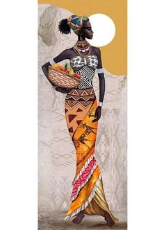 US Seller- Diamond Painting Kit - DIY X Full Round Drill, African Beautie Diamond Embroidery, Mosaic Gift, home decor, African Girl, African American Art, African Beauty, African Women, African Fashion, Ankara Fashion, African Style, African Art Paintings, Cross Paintings