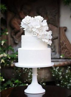 White Wedding Cake- White wedding cakes always look gorgeous and classic no matter what the design.