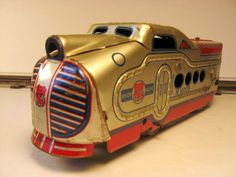 1930s Pressed Tin Lithographed Union Pacific Deco Wind Up Train