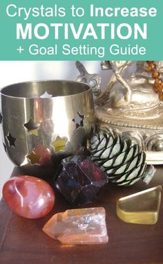 Crystal Meanings: Crystals for Motivation. Increase motivation plus goal setting guide. #crystalhealing