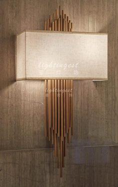 The modern new Chinese style hotel club example room wall lamp【最灯饰】现代新中式酒店会所样板房壁灯
