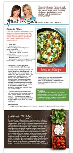 Healthy Meals, Easy Meals, Healthy Recipes, Fresh Mozzarella, Frittata, Nutrition Tips, Spoons, Summer Recipes, Meal Ideas