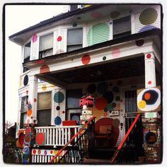 Polka dot house (by Erica volltrauer)