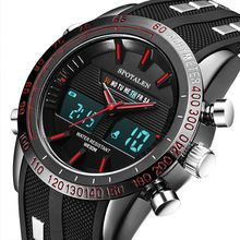 Relogio masculino Hombres Reloj Deportivo Militar de Lujo LED Pantalla Dual Masculina Reloj Electrónico de Marca Informal Reloj de pulsera Para Hombres saat