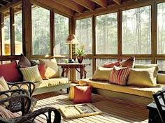 Cozy screened in porch