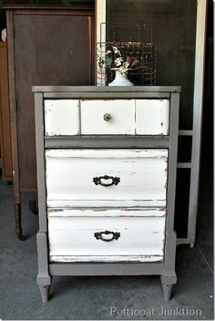 nightstand-paint-makeover-project, Petticoat Junktion