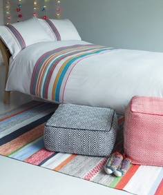 Nell bedlinen paired with a Coates rug. #Habitat