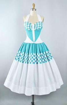 Vintage 50s COLE Of CALIFORNIA Dress / 1950s Cotton Pique