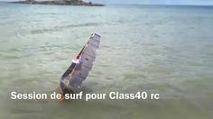 Session de surf pour Class40rc