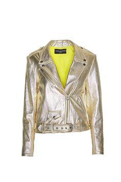 Gold Leather Jacket