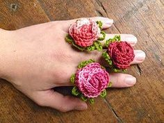 Cute Posy Flower Crochet Rings - Free Pattern