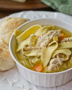 Amish Style Chicken and Noodles | A classic soup recipe the whole family will enjoy! It's old fashioned, so all of the ingredients (like carrots and celery) are good for you!