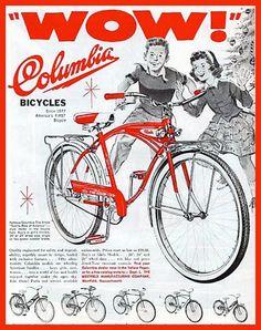 Vintage Columbia bicycle ad for Christmas 1950's.