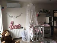 Babygirl sweet room #pink #gray #babygirl #sweetroom #babyroom