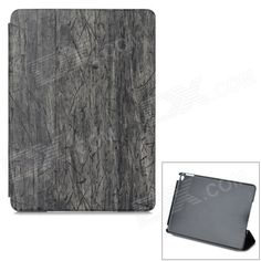 Wood Pattern Protective PU Case w/ Stand for IPAD 6 / AIR 2 - Grey   Black Price: $13.28