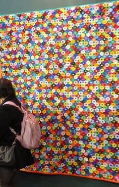"""Tokyo.  These must be 1/2"""" or maybe 5/8"""" hexagons"""