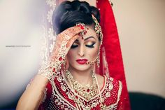 beautiful #indian #bride in red
