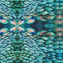 Peacock Kaleidoscopic Digitally Printed Stretch Neoprene
