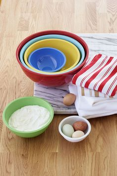 Cooking just got way more fun — add a little energy to the kitchen with Martha Stewart's colorful measuring bowls