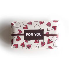 Lovely heartic cherry wrapping paper with something special inside!!