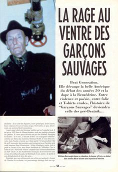 French magazine article on the Beat Generation.