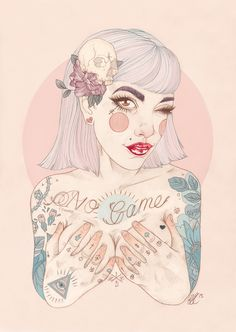Tattooed Illustrations by Liz Clements Art And Illustration, Liz Clements, But Is It Art, Web Design, Fractal Art, Dark Art, Cute Art, Fantasy Art, Street Art